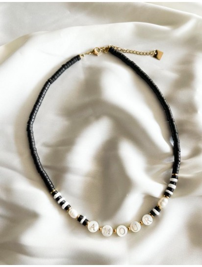 collier AMOUR onyx