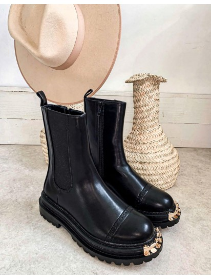 boots maryline noire