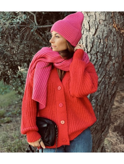 Gilet Loulou rouge